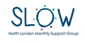 SLOW North London Monthly support group logo