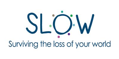 Slow logo on white