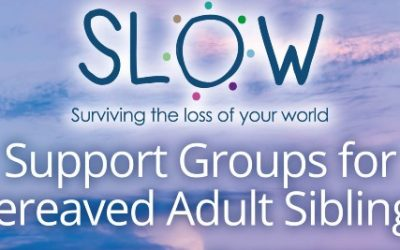 SLOW Adult Sibling Support Groups – now running monthly