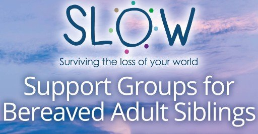 New SLOW support groups for adult siblings